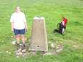 Jayne and David at the trigpoint