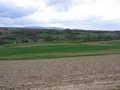 Walked around arable field and met spraying farmer