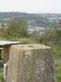 Trigpoint & view towards Oystermouth Castle