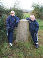 Tom and Ben at Barkestone trig