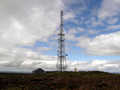 The trig, burial mound and radio tower.