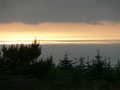Looing from pillar towards sunset