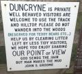 Duncryne footpath sign